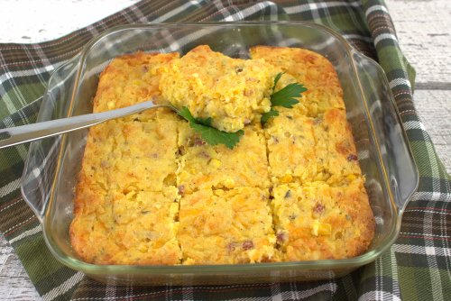 Ham and Cheese Corn Casserole