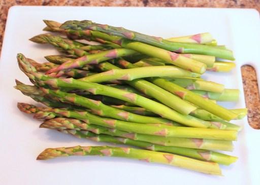 fresh trimmed asparagus
