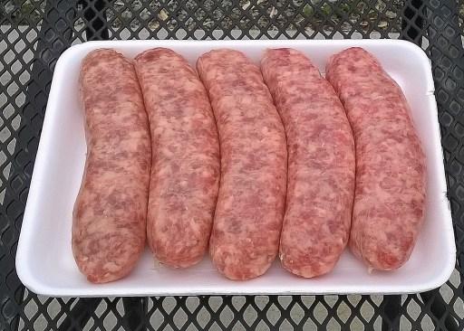 Start with fresh bratwurst