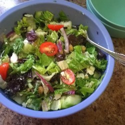 Salad Before Adding Chicken and Croutons