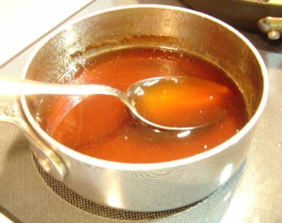 Saigon Cinnamon Syrup after cooking