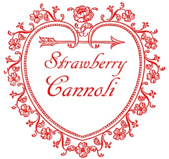 Strawberry Cannoli Heart