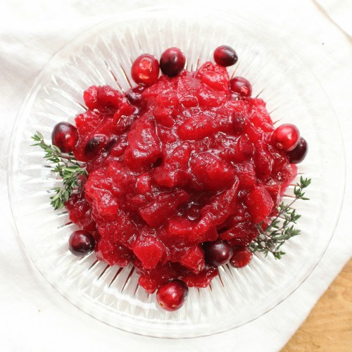 Apple-Ginger Cranberry Sauce