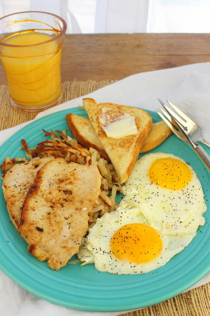 Breakfast Pork Chops