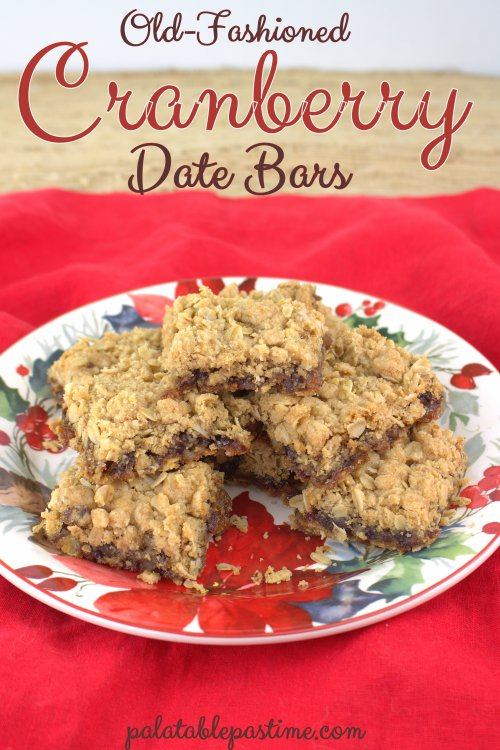 Cranberry Date Bars