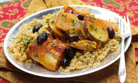 fish and potato tagine with preserved lemon