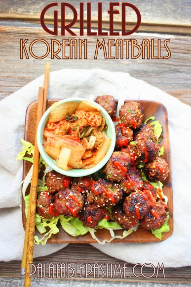 Grilled Korean Meatballs #SundaySupper