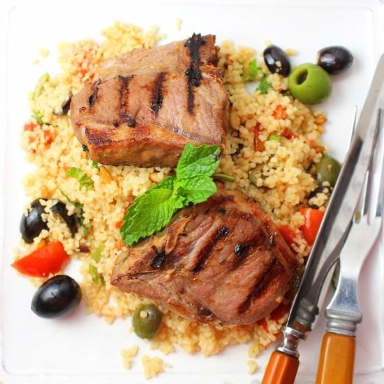 Grilled Lamb Chops Dijon