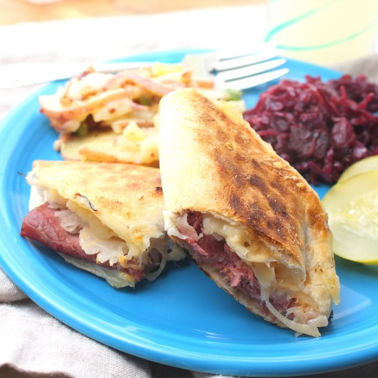 Grilled Reuben Quesadillas