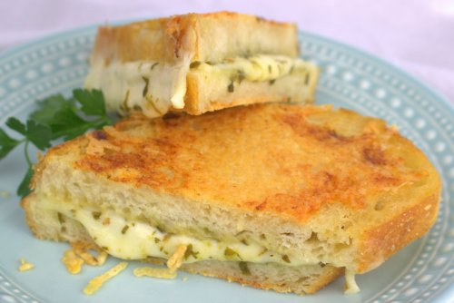 Italian Inside-Out Grilled Cheese