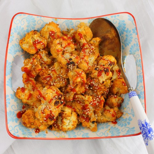 Moroccan Roasted Cauliflower with Sesame