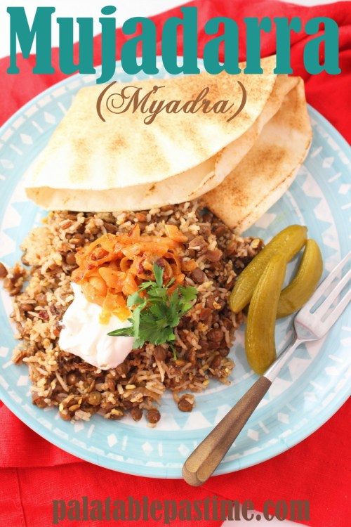 Mujadarra (Lentils and Rice)
