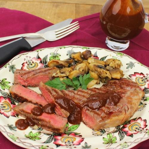 Pan-Seared Steaks with Homemade Steak Sauce