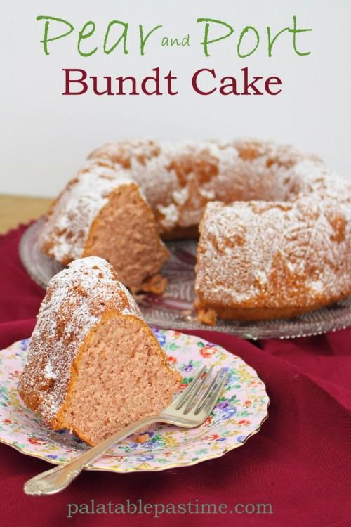 Pear and Port Bundt Cake