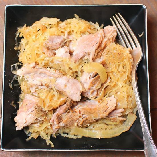 Pork and Sauerkraut in the Crock Pot