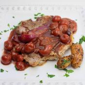 Pork Chops in Sour Cherry Sauce