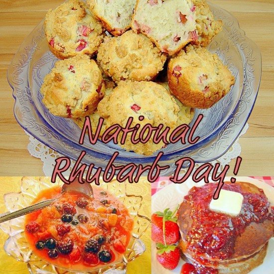 It's national rhubarb day!