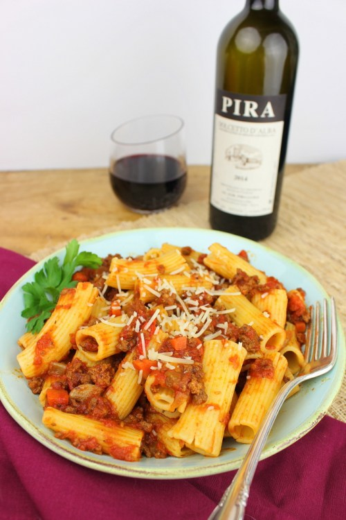 Rigatoni with Bolognese Sauce