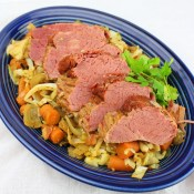 Slow Cooker Corned Beef with Stir-Fried Cabbage