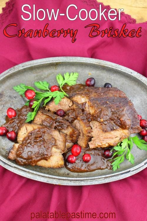 Slow Cooker Cranberry Brisket