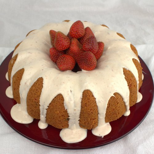 Strawberries and Cream Bundt Cake