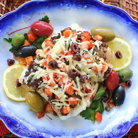 Tapenade Baked Cod