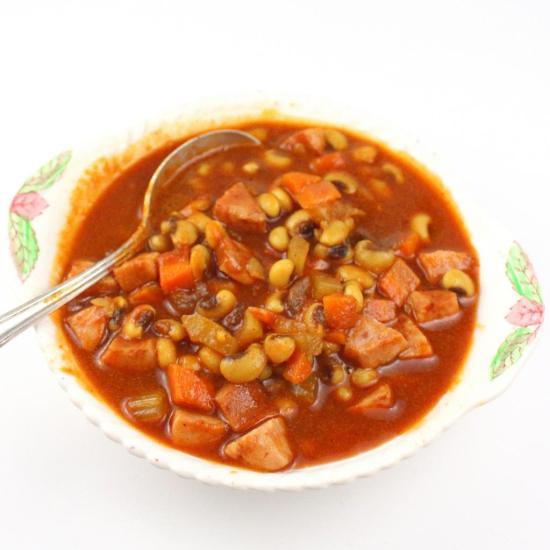 Tomato Black-Eyed Pea Soup