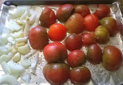 Tomatoes before roasting