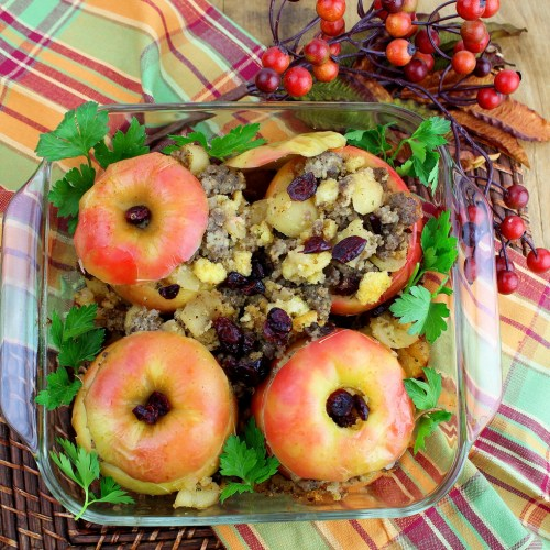 Sausage Stuffed Apples