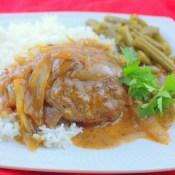 Beef Patties in Onion Gravy (Hamburger Steaks in Gravy)