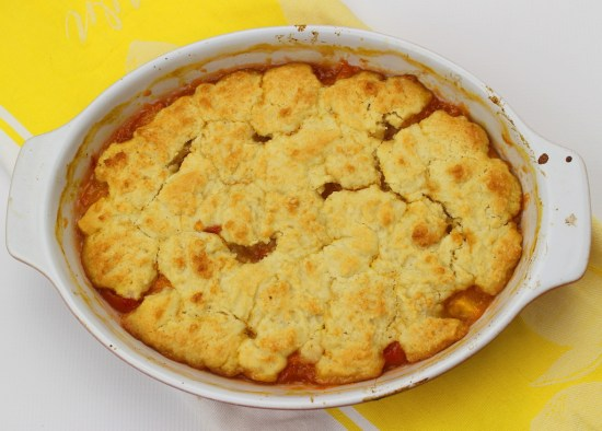 Biscuit Topped Peach Cobbler