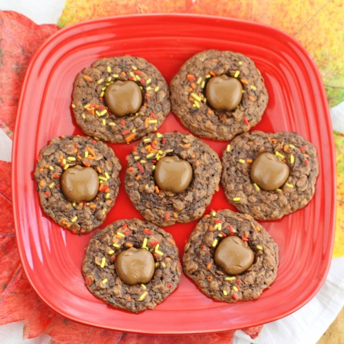 Caramel Apple Brownie Cookies