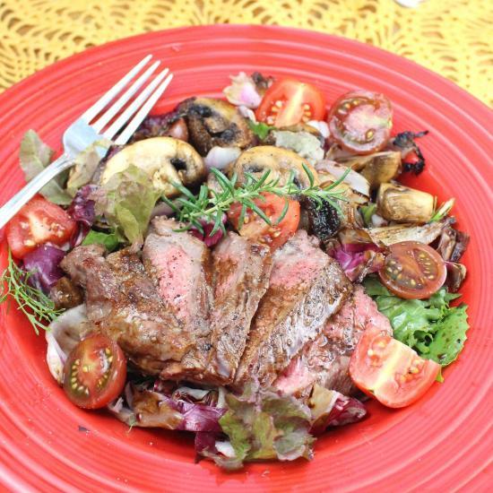 Grilled Steak and Radicchio Salad