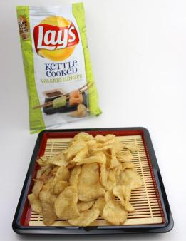 Lay's Kettle Cooked Wasabi Ginger flavored potato chips