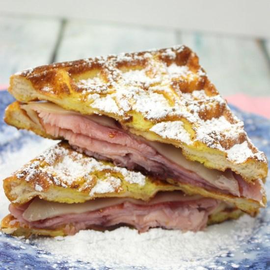 Monte Cristo Waffle Sandwich