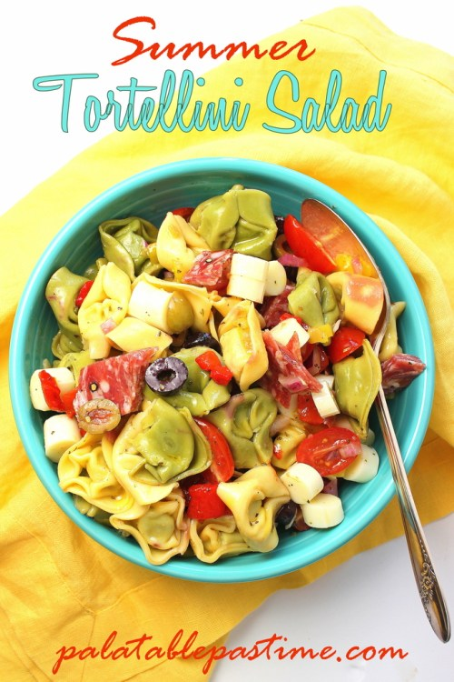 Summer Tortellini Salad for #SundaySupper