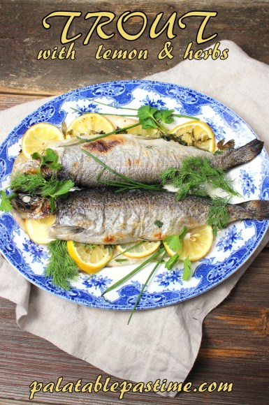 Trout with Lemon and Herbs #FishFridayFoodies