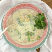 Creamy Chicken and Broccoli Alfredo Soup