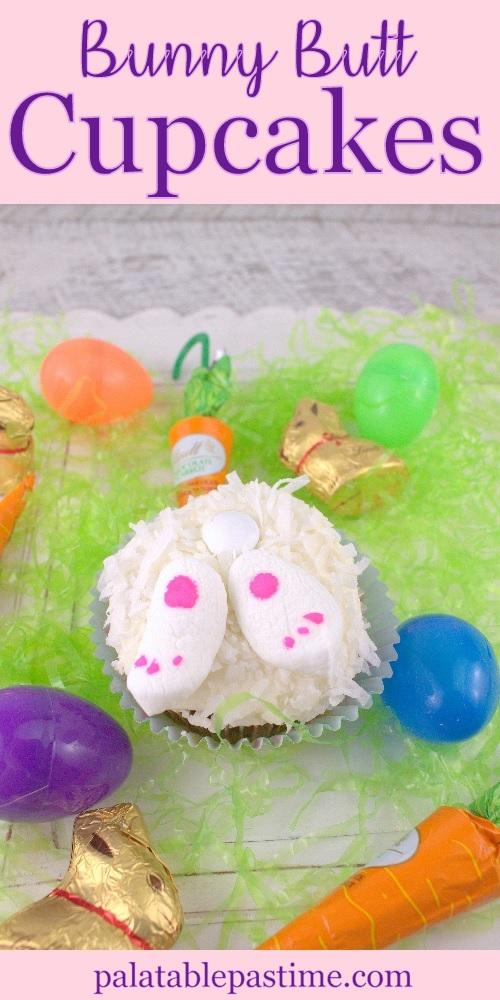 Bunny Butt Carrot Cupcakes