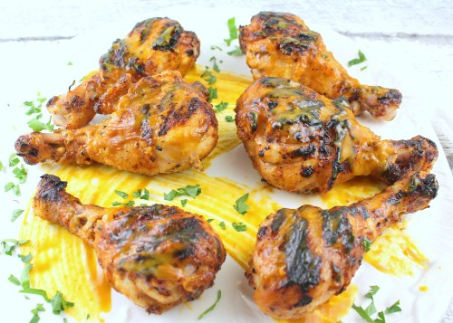 Carolina Gold Barbecue Buttermilk Brined Chicken Drumsticks