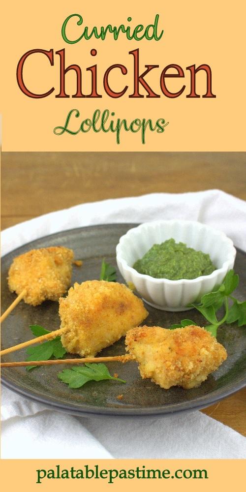 Curried Chicken Lollipops