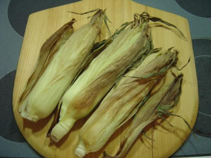 Unshucked Oven Roasted Corn