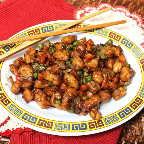 Chinese Chicken with Black Pepper Sauce