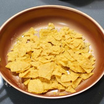 chips in pan
