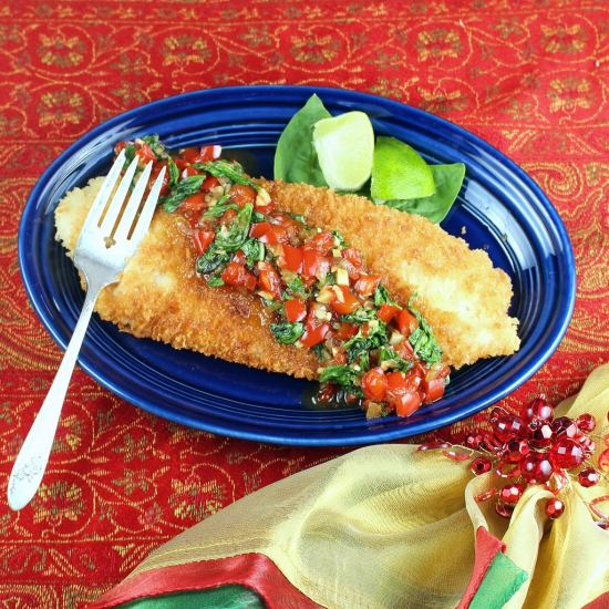 Crispy Tilapia with Spicy Thai Basil Sauce