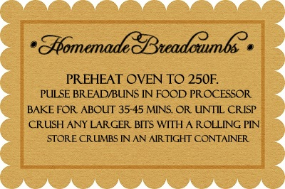 Homemade Breadcrumbs recipe