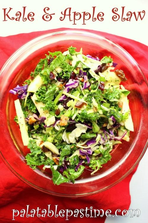 Kale and Apple Slaw #BrunchWeek