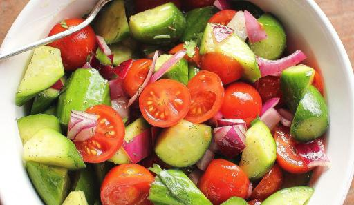 Simple Cucumber and Tomato Salad