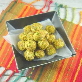 Goat Cheese, Grape, and Pistachio Truffles