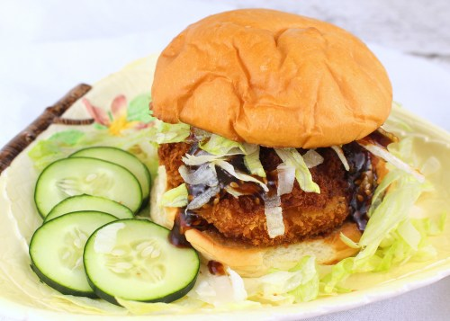 Crispy Honey Sesame Shrimp Burgers